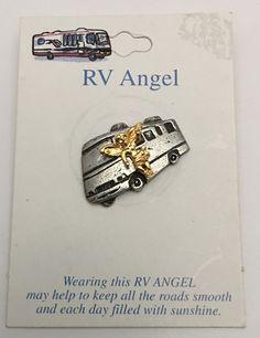 RV Guardian Angel Pin Brooch Camper Motorhome Travel Trailer  #Unknown