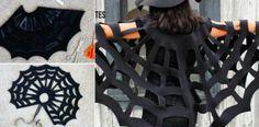 Tuto facile SANS COUTURE pour fabriquer une cape en forme de toile d'araignée