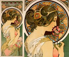 Honestly debating having this lovely Mucha painting on my body! So gorgeous!
