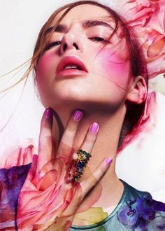 beauty editorial flowers | SPRING BEAUTY EDITORIAL SPREAD FRESH FLORAL INSPIRATION Mixte Magazine ...