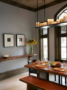Janis interesting idea to have a small long shelf in the DR. Functional, and space saving, Ugo could make it! Contemporary Dining Room Living Room Dining Room Combo Design, Pictures, Remodel, Decor and Ideas - page 18