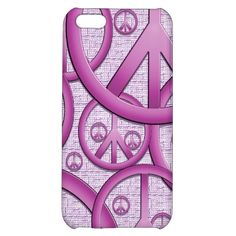 Purple Peace Sign iphone Case iPhone 5C Cases