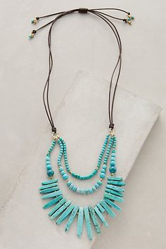 Lucero Necklace @ Anthropologie, Inc. Stone Jewelry, Beaded Jewelry, Handmade Jewelry, Jewelry Necklaces, Beaded Necklace, Jewlery, Long Necklaces, Colar Boho, Just In Case