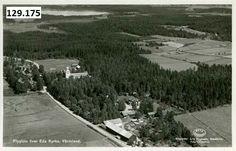 Flygfoto över Eda kyrka