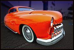 Sweet orange muscle car