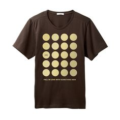Lightly Print T-Shirt プリントTシャツ【チョコ×ゴールド】Circle https://hibi.co.jp/products/detail.php?product_id=87