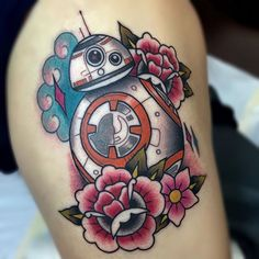 beep beep boo bop beep -BB-8 (thank you so much for my gorgeous new thighpiece @mikkibedol the 4 & a half hours were so… by averyawelch - instaview.me