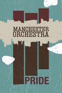 Manchester Orchestra Pride Poster by Michael Tavilla, via Behance