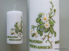 Geburtstagskerze Hochzeitskerze  DW 275   von  Kerzenkunst -  Kreatiwita auf DaWanda.com