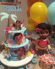 Moana Themed Party, Moana Birthday Party, Girl 2nd Birthday, Moana Party, Luau Birthday, Luau Party, 2nd Birthday Parties, Birthday Cakes, Birthday Ideas