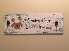 Only a few more left in stock! Dog leash holder, Dog sign, Wooden dog sign, Gift for dog lover, Dog gift, Key Hook, New dog gift, New puppy gift, Wall hooks, House Warming Shop now:  https://www.etsy.com/listing/527133559/dog-leash-holder-dog-sign-wooden-dog?utm_campaign=crowdfire&utm_content=crowdfire&utm_medium=social&utm_source=pinterest
