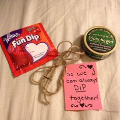 Anniversary. Redneck gift idea. Made this for my boyfriend who dips.