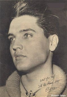 """""""Wait for me"""" photo of Elvis Presley before going into the Army"""
