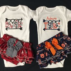 Bama Girl Auburn Tigers Baby Girl Outfit