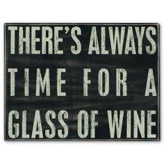 Glass of Wine Box Sign
