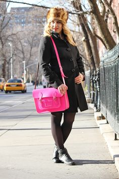 I want the Cambridge Satchel in yellow so bad! Adore the hot pink