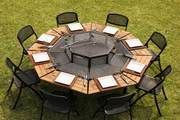 Fire Pit Grill, Fire Pit Backyard, Fire Pits, Fire Pit Furniture, Outdoor Furniture Sets, Outdoor Decor, Furniture Ideas, Bbq World, Fire Pit Video