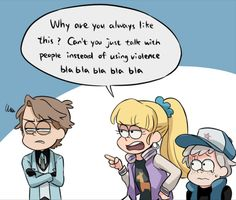 Opps someone just said her OS loudly xD My PC internet suddenly won't work this afternoon Q_Q Thank goodness I can still use my phone… Reverse Gravity Falls, Gravity Falls Funny, Gravity Falls Anime, Gravity Falls Fan Art, Gravity Falls Comics, Reverse Falls, Cartoon Memes, Funny Memes, Memes Humor
