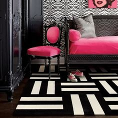 Fantastic! Adore the hot pink with black & white.