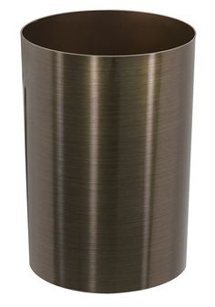 Umbra Metalla Waste Can, Metallic Bronze Metalla waste can by Umbra Made from polypropylene plastic Cylinder shape with an open top; brushed metallic exterior, gallons liters) Measures 10 inches in diameter by inches tall Designed by David Quan Stainless Steel Appliances, Brushed Stainless Steel, Modern Decor, Modern Furniture, Modern Design, Kitchen Trash Cans, Cylinder Shape, Garbage Can, Recycling Bins