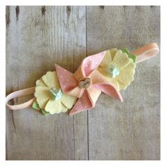 Sweet PeaLove wool felt pinwheel and flower by dropofhoneybowtique, $16.25