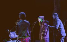 Hayley Williams and Joy Williams performing Christmas songs at The Farm, Franklin, TN - 2015 December 6 Photo credit: @4thebirds instagram
