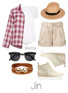 """Bts in Dubai- Jin "" by ari2sk ❤ liked on Polyvore featuring Steve Madden, Witchery, Cyberjammies, rag & bone, Salvatore Ferragamo, H&M and plus size clothing"
