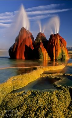 Fly Geyser in the Black Rock Desert of northwestern Nevada • Rolf Sterchi Photography