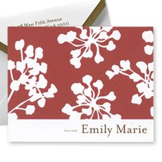 Cherry Blossom Notes were originally conceived as baby shower notes, but we think they are equally well suited for holiday notes. Create yours today at http://www.giftsin24.com/Cherry-Blossom-Thank-You-Notes Ships in 24 hours. FREE FedEx ground shipping. #holiday #stationery #thankyounotes #madeinAmerica