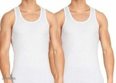 Checkout this latest Vests Product Name: *Trendy Men's Cotton Solid Vest(Pack Of 2)* Fabric: Cotton Sleeve Length: Sleeveless Pattern: Solid Multipack: 2 Sizes:  S, M, L, XL, XXL Country of Origin: India Easy Returns Available In Case Of Any Issue   Catalog Rating: ★3.9 (1038)  Catalog Name: Trendy Men's Cotton Solid Vests Vol 1 CatalogID_181148 C68-SC1217 Code: 091-1398906-363