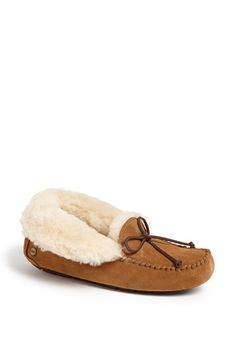 Free shipping and returns on UGG® Australia 'UGGpure™ Alena' Suede Slipper (Women) at Nordstrom.com. A high-backed slipper crafted with a flexible rubber sole cradles your foot in comfort with a plush lining crafted from soft, warm UGGpure™—a textile made entirely from wool but crafted to feel and wear like genuine shearling. The cozy cuff can be worn up or down.