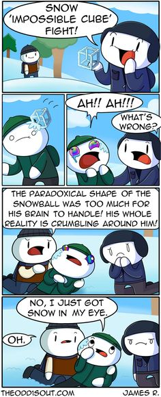 Theodd1sout :: Snow \'Impossible Cube\' Fight!    Tapastic Comics