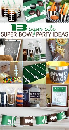 Are you hosting a Super Bowl party? These super cute football party ideas will make your Super Sunday party a huge success. Are you hosting a Super Bowl party? These super cute football party ideas will make your Super Sunday party a huge success. Football Draft Party, Football Banquet, Football Tailgate, Football Snacks, Football Themes, Football Birthday, Football Fans, Football Season, Football Humor