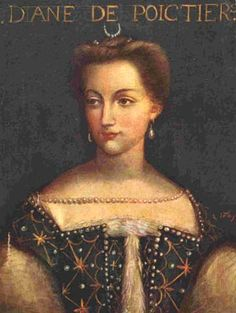 A portrait of Diane de Poitiers, born September 3rd, 1499. Diane was the powerful lifelong mistress of the much-younger Henri II of France.