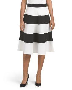 Stripe+Midi+Skirt