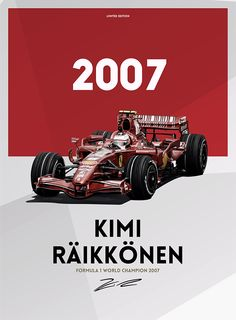 Kimi Raikkonen by Aleksandar Petrovic Ferrari World, Ferrari F1, Sport Cars, Race Cars, Holden Australia, Formula 1 Car, Best Luxury Cars, F1 Drivers, Car Posters