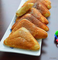 Eggless Pillow Cakes in Sandwich Maker