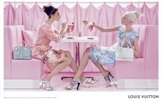 louisvuitton,louis vuitton,lv,spring,summer,printemps,été,2012, #steven_meisel nouvelle campagne,tearoom,salon de thé,pastel,sorbet,vert,bleu,rose,jaune,pâle,pink,blue,green,yello,soft,dentelle,icecream,fashion,mode,cupcake,sweet,ice,colored