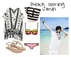 """""""jimin beach"""" by ewaporter ❤ liked on Polyvore featuring WithChic and Accessorize"""