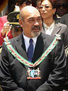 Desi Bouterse, le 12 août 2010 (Suriname)