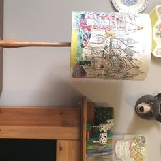 Hand stitched Venice lampshade by Marna lunt