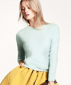 Try this with my mustard pants and light blue top!