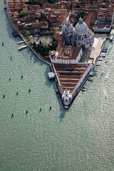 Punta della Dogana contemporary art space in #Venice (it's the triangular building). #GowithOh