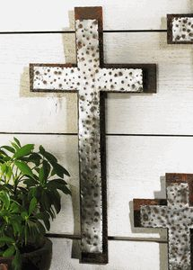 Western Iron Wall Cross - Large