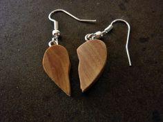Herzanhänger two hearts Ohrringe von Treety auf DaWanda.com