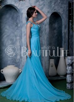 $316.99 Donna Amazing Chiffon Sheath/Column Chapel Train Sweetheart Imitation Pearls Beaded #Evening #Dress– Discount #Evening #Dresses
