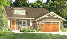 Plan Northwest Cottage with Open Layout I like the exterior. Floor plan doesn't work for our lot. Narrow House Plans, Small House Floor Plans, Garage House Plans, Cottage House Plans, Cottage Living, Cottage Homes, Cheap House Plans, Cottage Style, Farm House