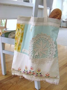 DOTTIE ANGEL textiles - bag from vintage linens and doilies