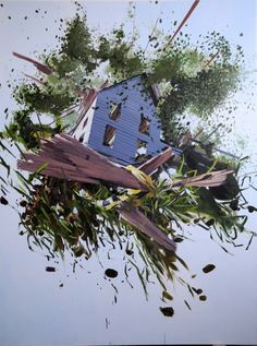 Unusual Art: Exploding Structures by Artist Ben Grasso - http://freshome.com/2011/06/22/unusual-art-exploding-structures-by-artist-ben-grasso/