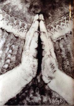 "Daily Paintworks - ""Prayer"" by Kelly Alge #prayer, #fused, #powder, #glass, #art"